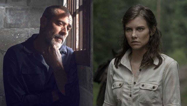 Negan y Maggie en The Walking Dead