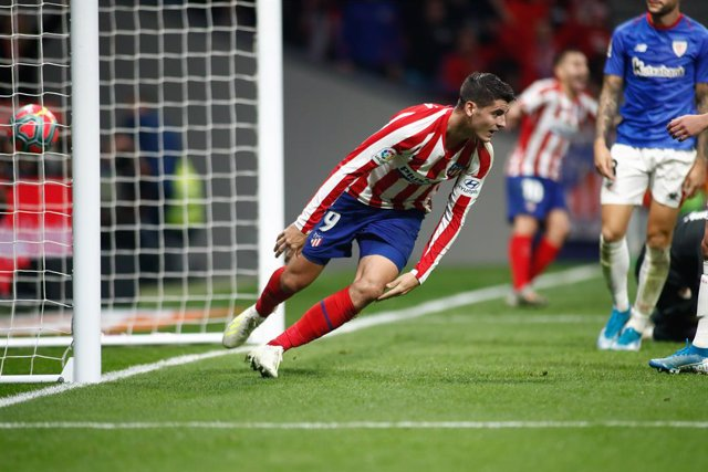 """Fútbol.- Morata: """"El mejor del partido ha sido Correa, todo lo bueno se lo merec"""