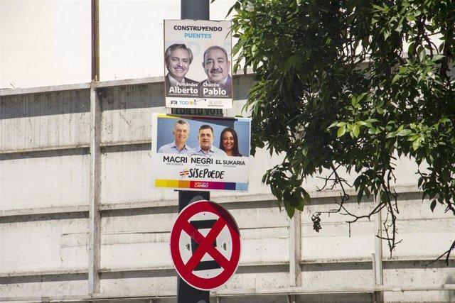 Propaganda electoral en Córdoba, Argentina.