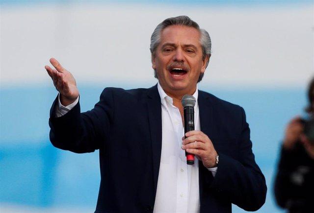 El candidato presidencial Alberto Fernández en Mar del Plata (Argentina)