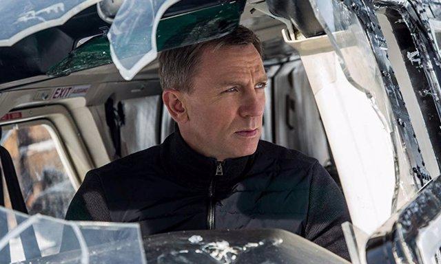 Daniel Craig durante el rodaje de Spectre