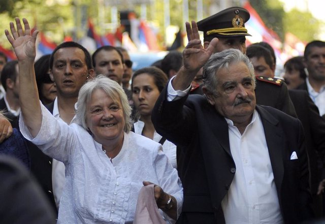 Lucía Topolanski y José Mujica (Imagen de archivo)