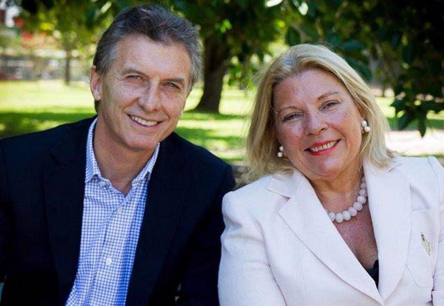 Mauricio Macri y Elisa Carrió (Imagen de archivo)