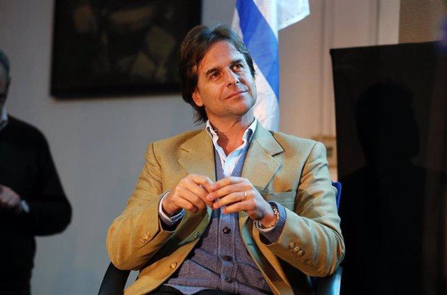 Luis Lacalle Pou, candidato a la presidencia del Uruguay  para las elecciones presidenciales.