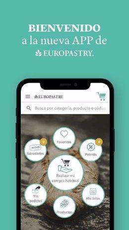 COMUNICADO: Europastry lanza una innovadora App más rápida y práctica para sus c