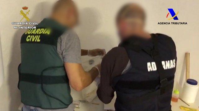 Desarticulada a Tordera (Barcelona) una organització dedicada al tràfic de cocaïna.