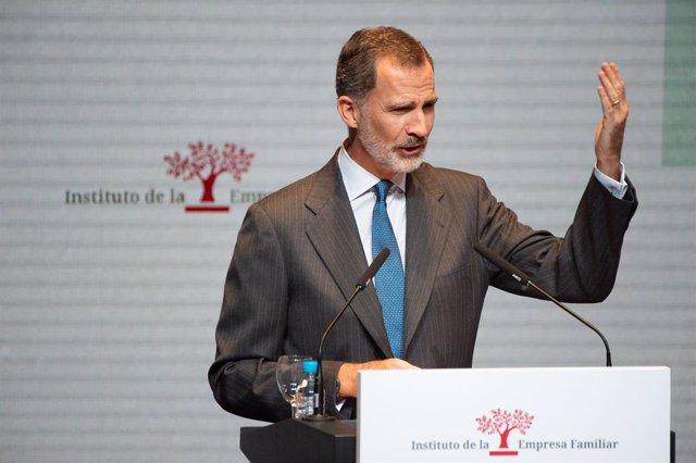 Economía.- El Rey subraya la importancia de apostar por la educación y el papel