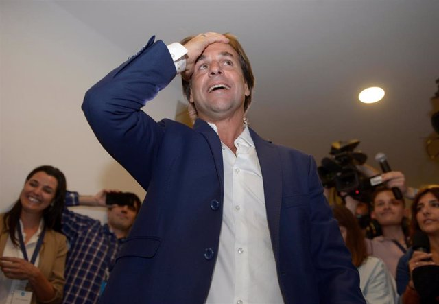 Luis Lacalle Pou, candidato opositor a las elecciones presidenciales de Uruguay