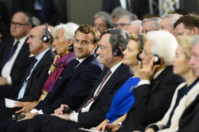 BCE.- Lagarde y los líderes de la eurozona rinden homenaje a Draghi en el adiós