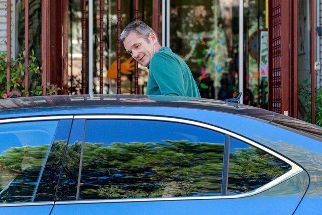 El marit de la Infanta Cristina, Iñaki Urdangarin, a la sortida de  'Hogar Don Orione' el seu sisè dia de voluntariat, a Pozuelo. Madrid (Espanya), 8 d'octubre del 2019.