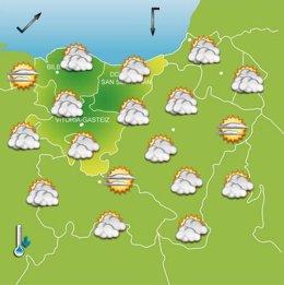 Previsiones meteorológicas para el 29 de octubre en Euskadi.