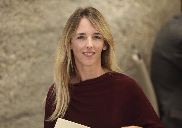 La portavoz del Grupo Popular en el Congreso, Cayetana Álvarez de Toledo, durante un almuerzo coloquio en el Club Siglo XXI, en Madrid (España), a 28 de octubre de 2019.