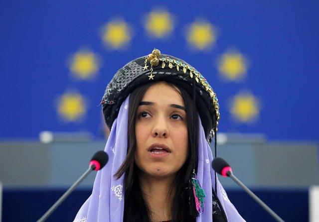 Nadia Murad recibe el premio Sajarov en el Parlamento Europeo