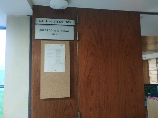 Sala de vistas del Juzgado de lo Penal 1, escenario del juicio.