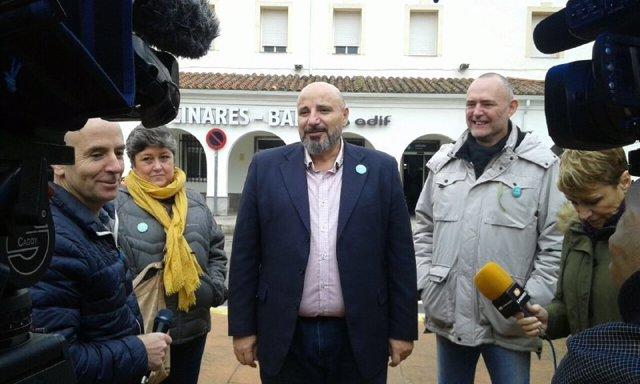 El cabeza de lista de Adelante Andalucía por Jaén, José Luis Cano.