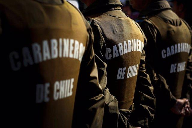 Efectius de Carabineros a Viña del Mar (Xile)