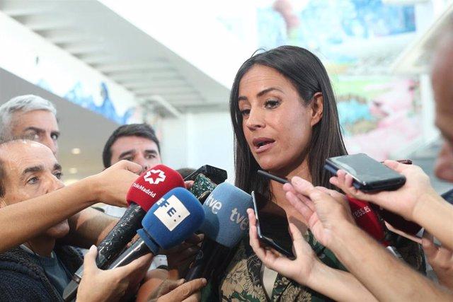 La vicealcaldesa de Madrid, Begoña Villacís ofrece declaraciones a los medios de comunicación.