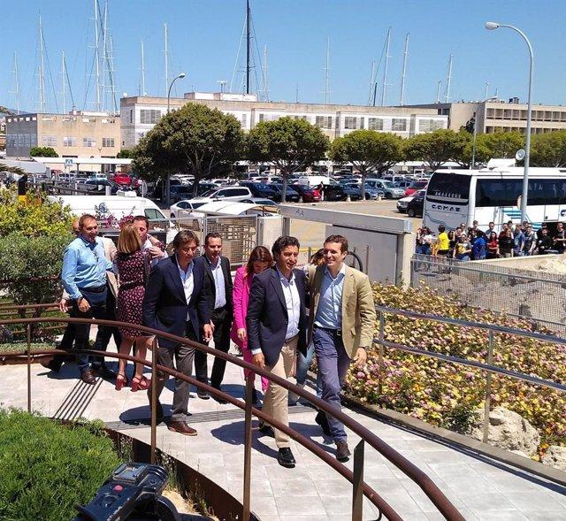 Candidats balears a les eleccions del 26M amb el president del PP nacional, Pablo Casado