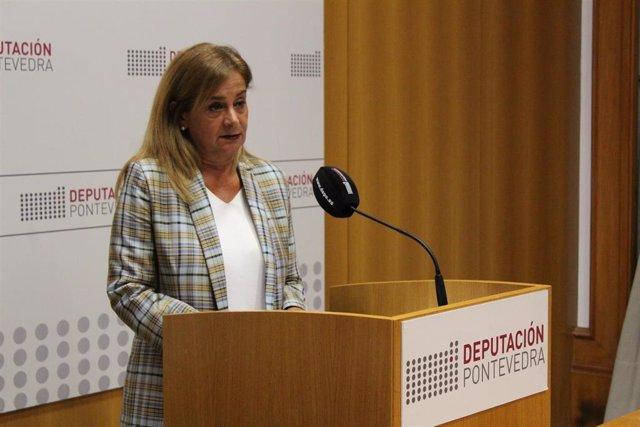 La presidenta de la Diputación de Pontevedra, Carmela Silva.