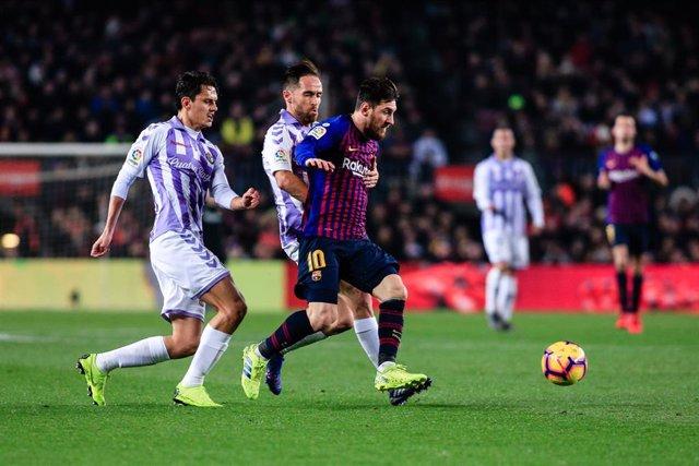 Leo Messi en un FC Barcelona-Real Valladolid