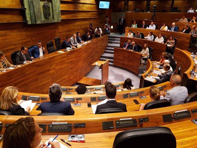 Pleno de la Junta General del Principado de Asturias.