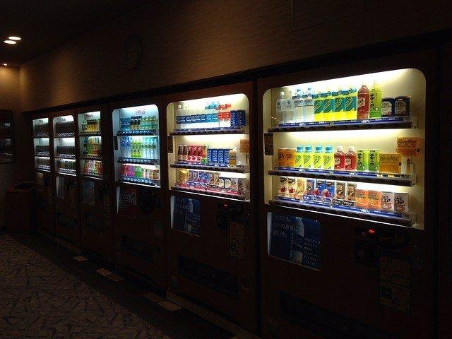 Máquina expendedora de bebidas, vending.