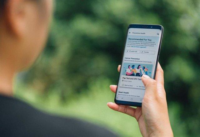 Herramienta de salud preventiva en la app de Facebook