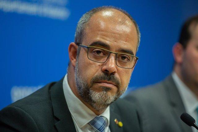 El conseller de l'Interior, Miquel Buch, ofereix una roda de premsa, Barcelona (Catalunya/Espanya) 17 d'octubre del 2019.