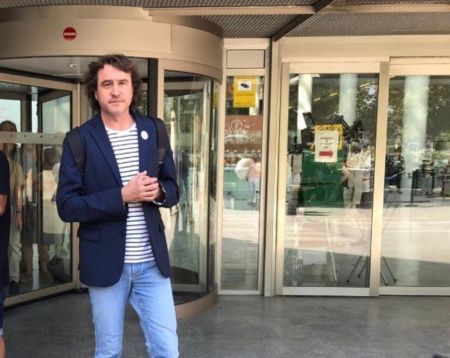 Rubén Trenzano en la Ciudad de la Justicia de Valncia