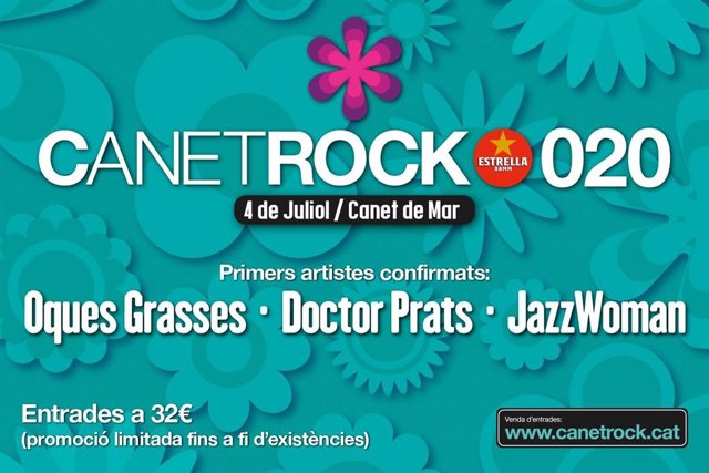 El Canet Rock anuncia Oques Grasses, Doctor Prats i Jazz Woman