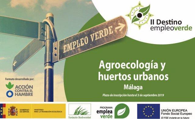 Cartel del programa Destino Empleo Verde