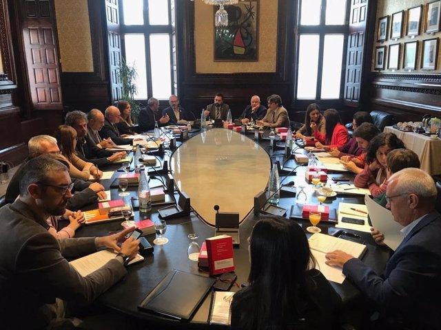 La Junta de Portaveus del Parlament del 29 d'octubre de 2019.