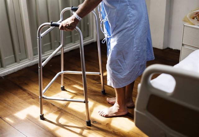 Mayor en un hospital.