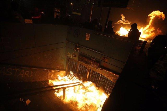 Incidentes en el centro de Santiago