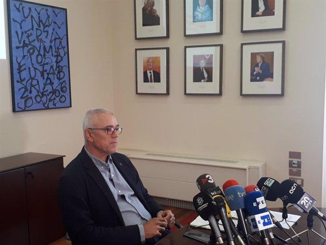El rector Jaume Casals (UPF)