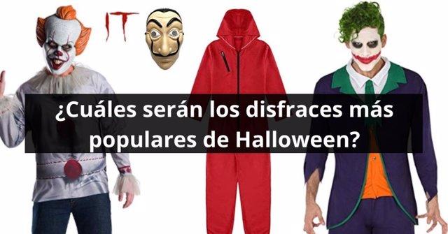 Imagen de los disfraces de Pennywise, Joker y de los ladrones de 'La Casa de Papel'