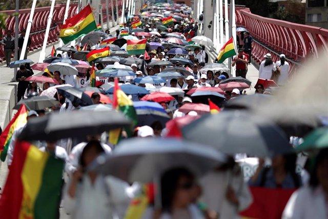 Protestas en La Paz contra el Gobierno de Evo Morales