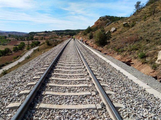 Vies de tren de circulació Adif