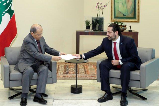 Líbano.- Aoun pide a Hariri que continúe en funciones hasta la creación de nuevo