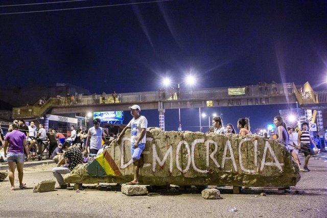 Protesta contra Morales en Santa Cruz