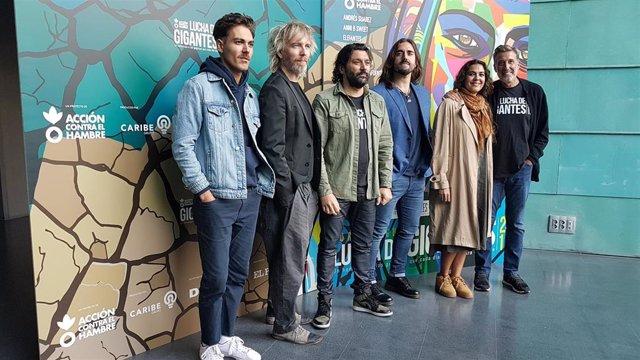 Miss Cafeina, Elefantes, Josemi Carmona, Andrés Suárez, Alba Molina y Emilio Aragón presentan el concierto de Acción contra el Hambre Lucha de Gigantes 2019