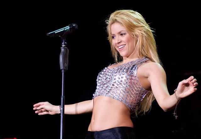 La cantante Shakira en un concierto en Barcelona