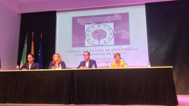Inauguración de la Jornada sobre el Ictus celebrada en Pozoblanco (Córdoba).