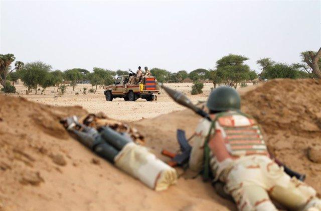Soldados nigerinos apostados en Diffa (Archivo)