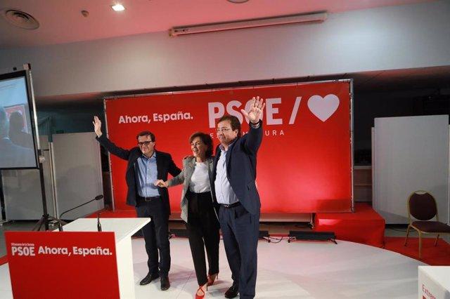 Carmen Calvo, Fernández Vara i Gallardo