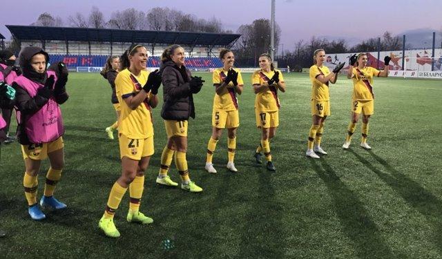 Fútbol/Champions.- El Barça remonta en Minsk y accede a cuartos de final