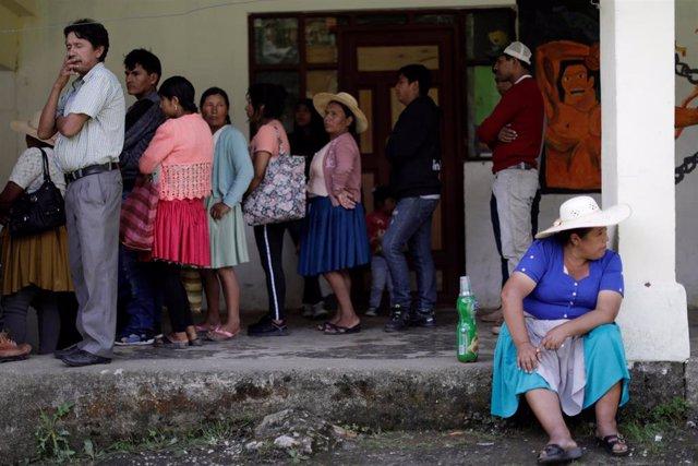 Colegio electoral en Bolivia
