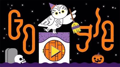 El 'doodle' para jugar con el que Google desea un feliz Halloween hace las delicias de los amantes de los animales