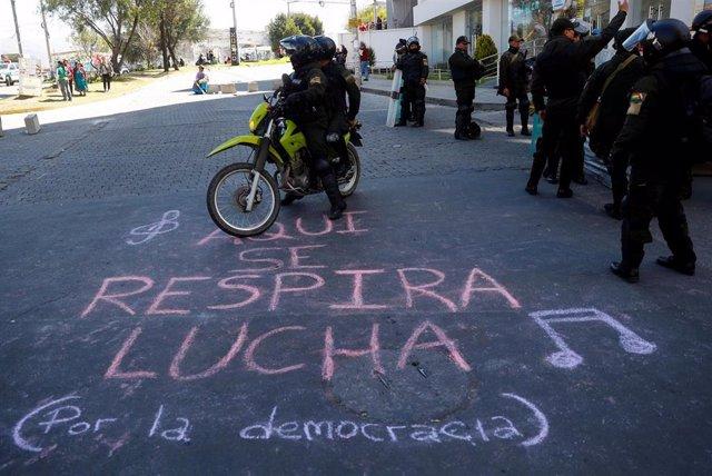 Despliegue de seguridad en La Paz