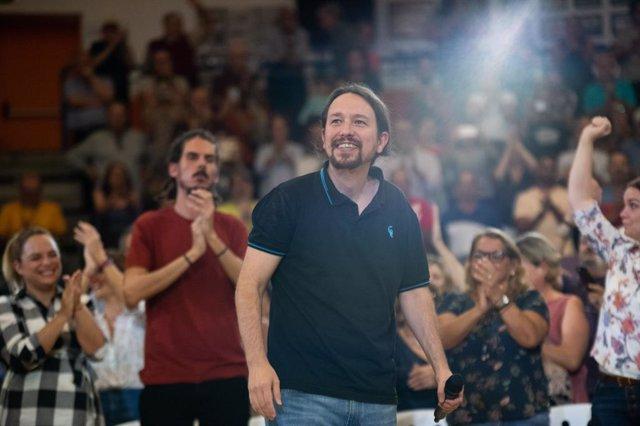 El candidat d'Unides Podem a la presidència del Govern espanyol, Pablo Iglesias.